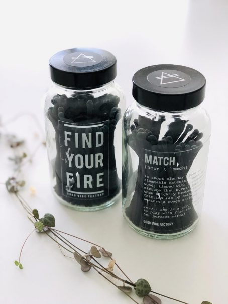 Alchemists Candle Match Find Your Fire clear Good Vibe & Co
