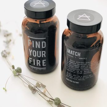 Alchemists Candle Matches – FIND YOUR FIRE (Amber Glass)