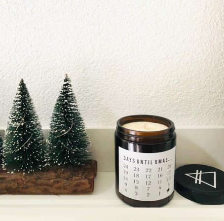 Christmas advent candle GOOD VIBE FACTORY kerstboom