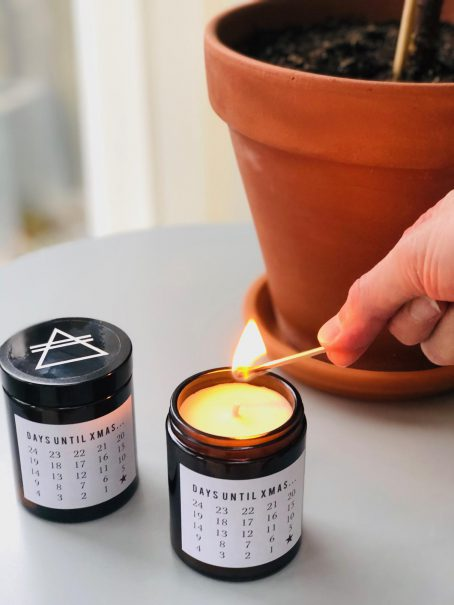 Christmas advent candles GOOD VIBE FACTORY kerst