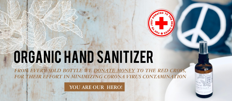 organic hand sanitizer hero banner