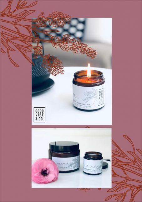 Natuurlijke handgemaalte kaarsen