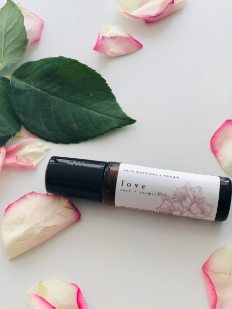 LOVE perfume roller with rose oil by Good Vibe & Co.
