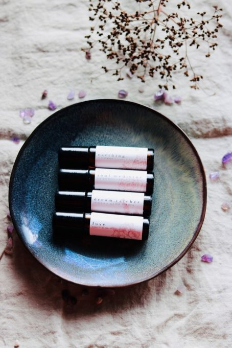 Natural perfume rollers with essential oils by Good Vibe & Co.