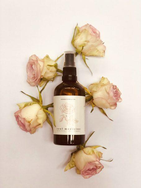 Sfeer Mist Soul Medicine met roos en jasmijn essentiële olie
