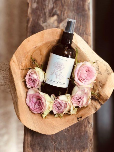 Sfeer Mist Soul Medicine met roos essentiële olie en amethist