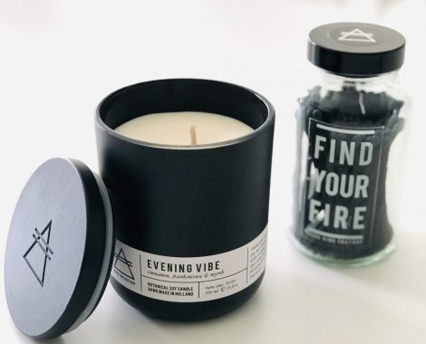 Alchemists Candle Matches FIND YOUR FIRE clear Morning Vibe Good Vibe Factory